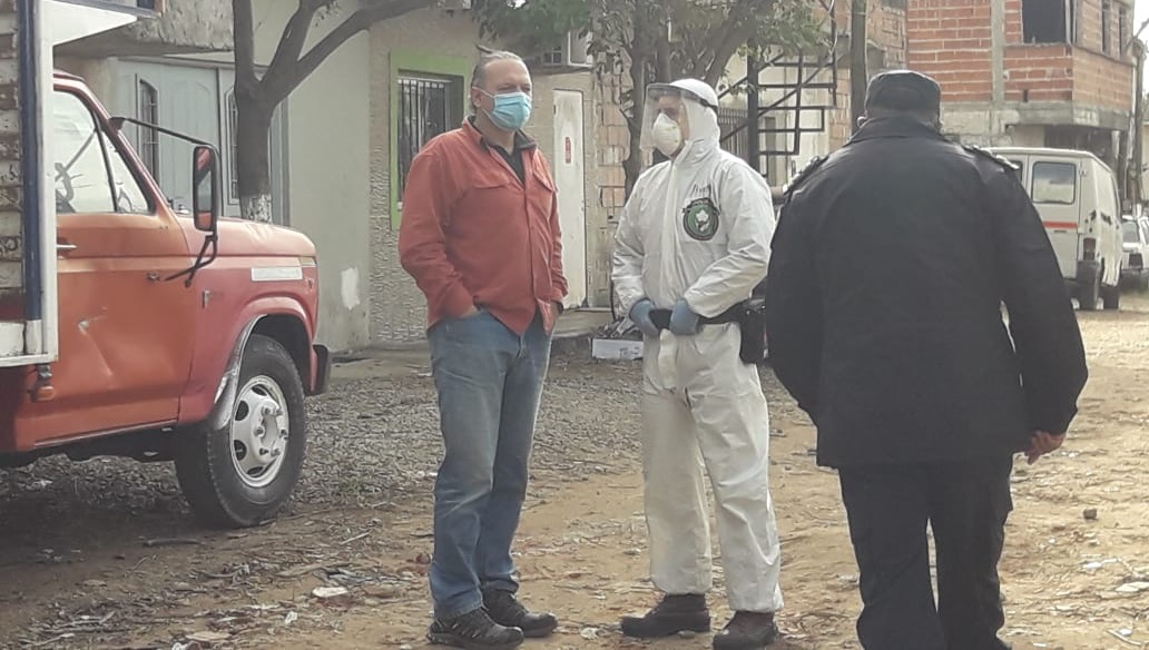 Aislamiento de parte del Barrio José Luis Cabezas: 39 casos positivos de coronarivus
