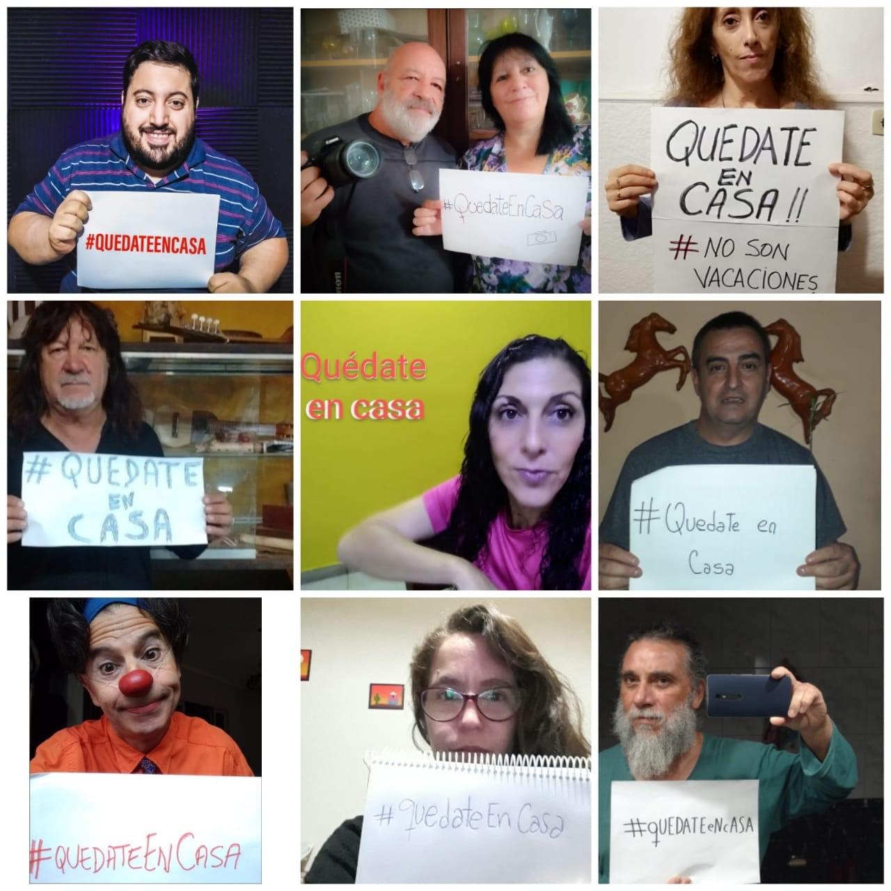 Talleristas y trabajadores de Cultura y el Centro Papa Francisco se suman a la campaña #Quedateencasa