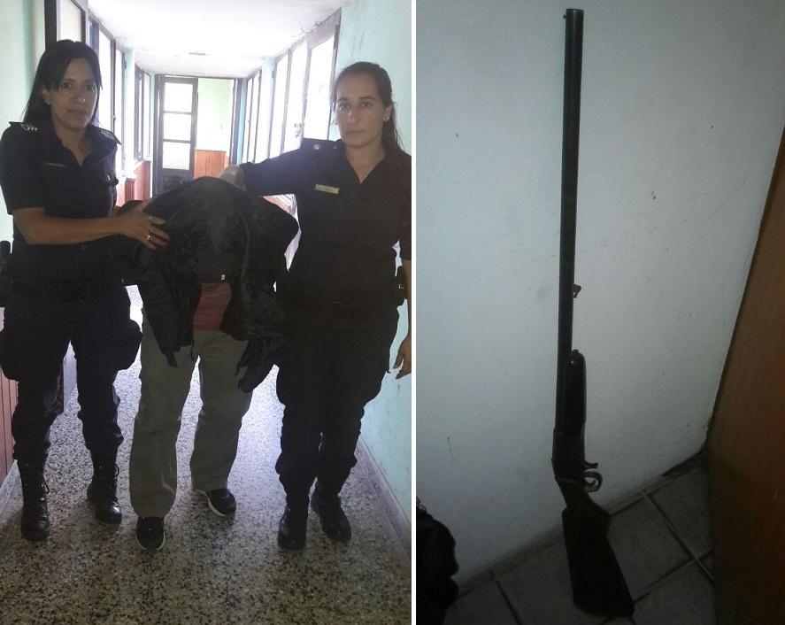 Tras ser alertado por el 911, personal policial arribó al Balneario Palo Blanco (calle 32 y Río de la Plata).