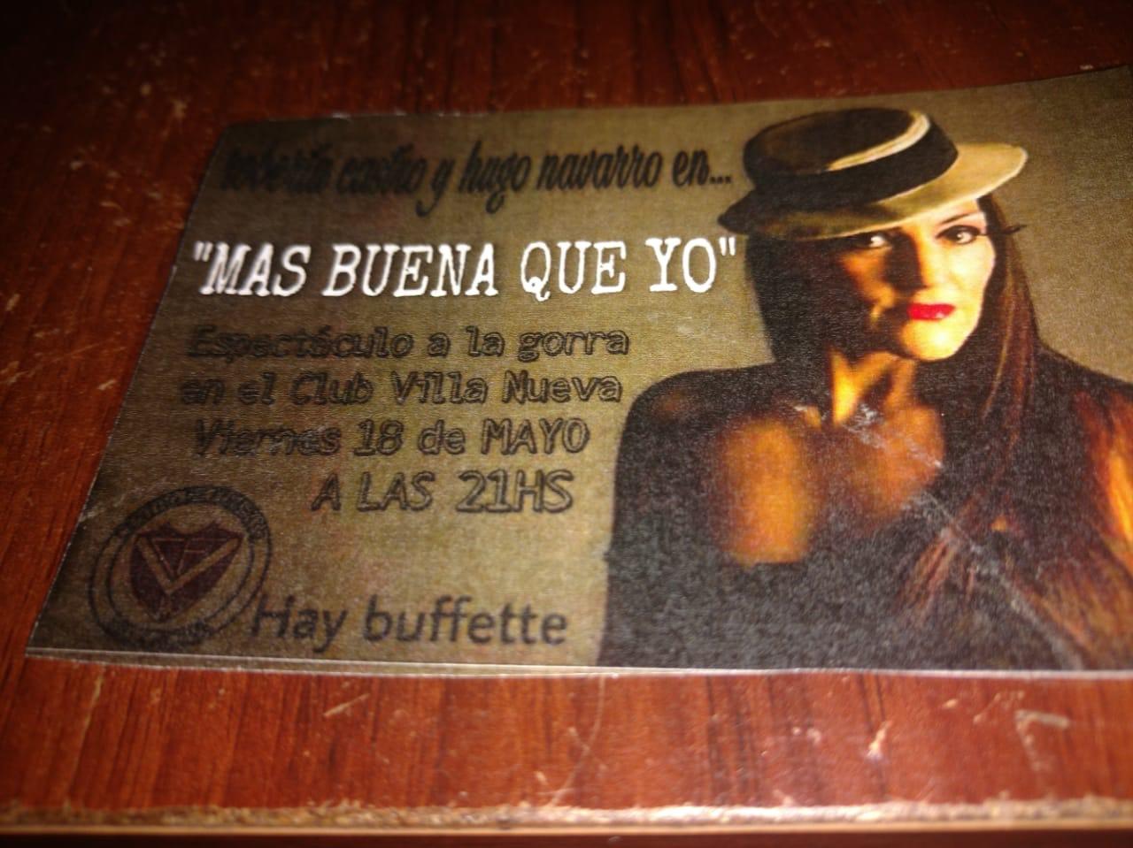 """Este viernes 18 de mayo, desde las 21 horas, se llevará a cabo el espectáculo de tango y humor """"Más buena que yo"""", en las instalaciones del Club Fomento de Villa Nueva, sito en calle 7 entre 144 y 145 de la ciudad de Berisso."""