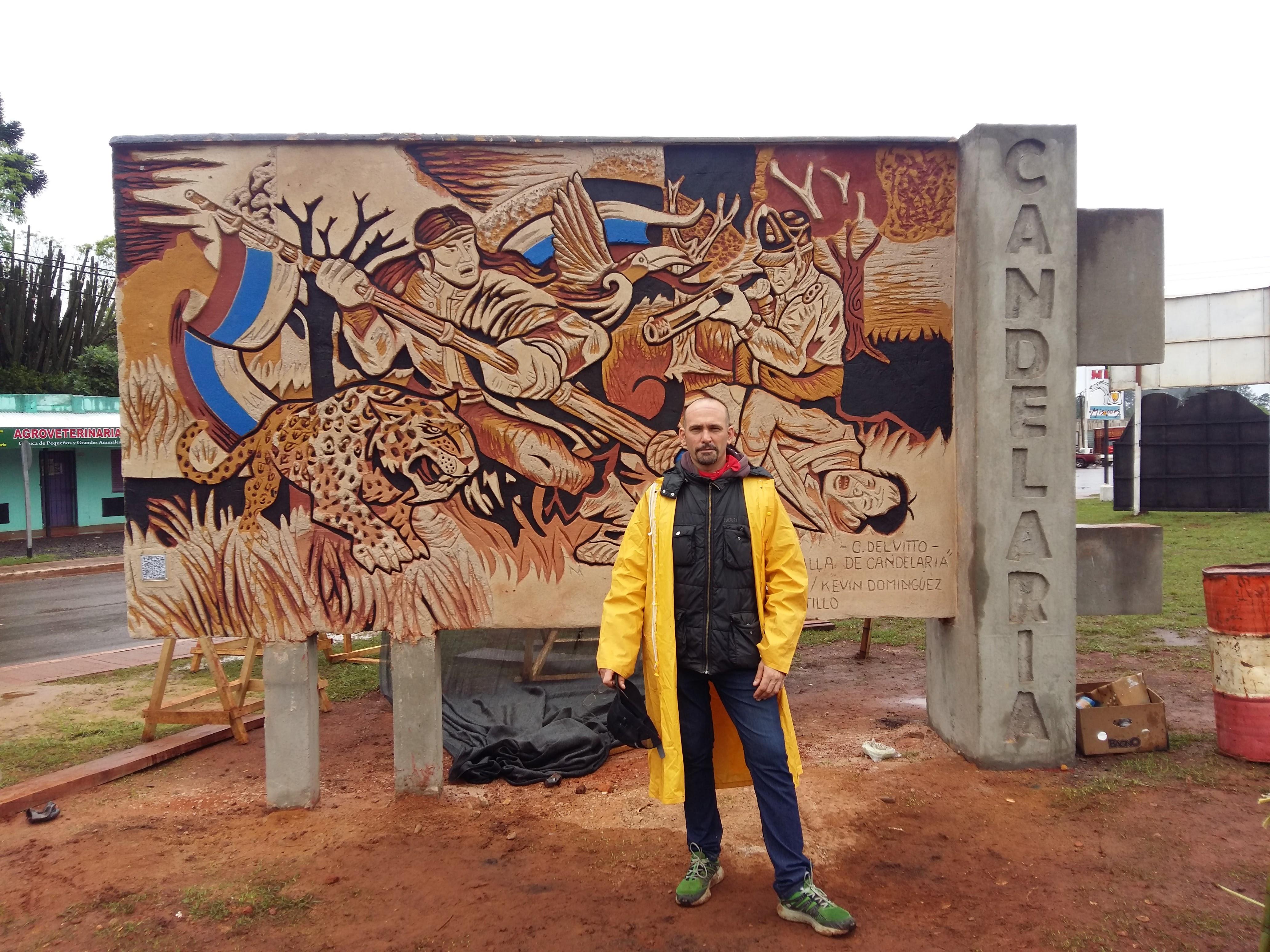 El muralista Cristian Del Vitto participó recientemente del Encuentro Internacional de Muralistas que se desarrolló en la ciudad de Candelaria, provincia de Misiones organizado por el Movimiento Internacional del Muralistas Ítalo Grassi y la Municipalidad de esa ciudad, donde el berissense fue declarado huésped de honor.