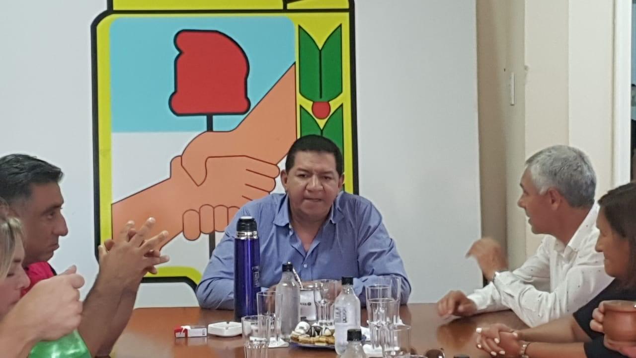 El Consejo de distrito del PJ recibió al intendente Cagliardi