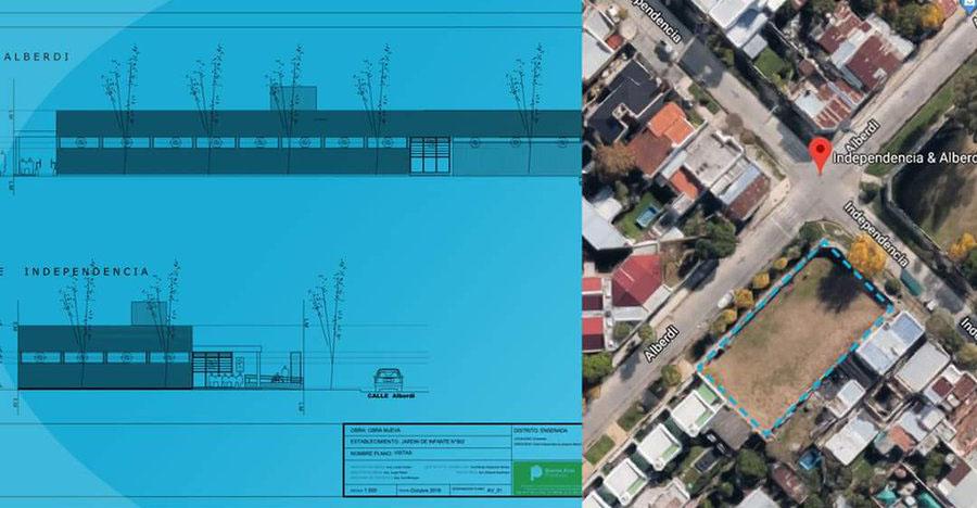 Todo listo para la construcción del nuevo edificio del Jardín N° 902 de Ensenada