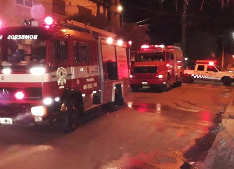 Intervinieron los bomberos.