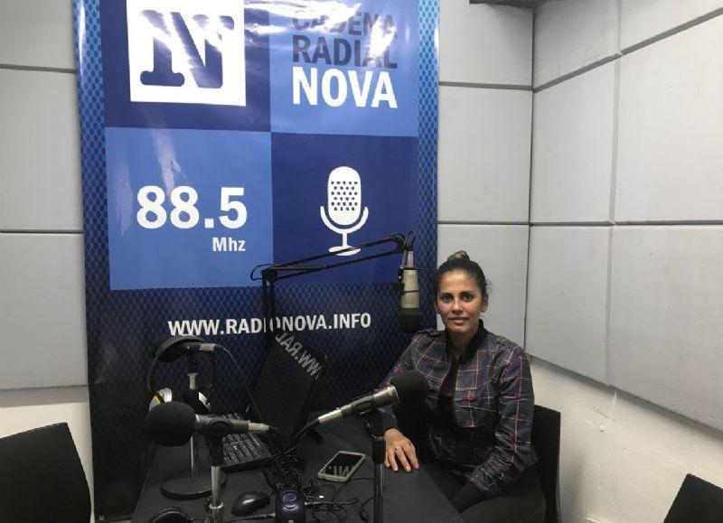 Ana Babán, en el aire de BerissoCiudad en Radio.