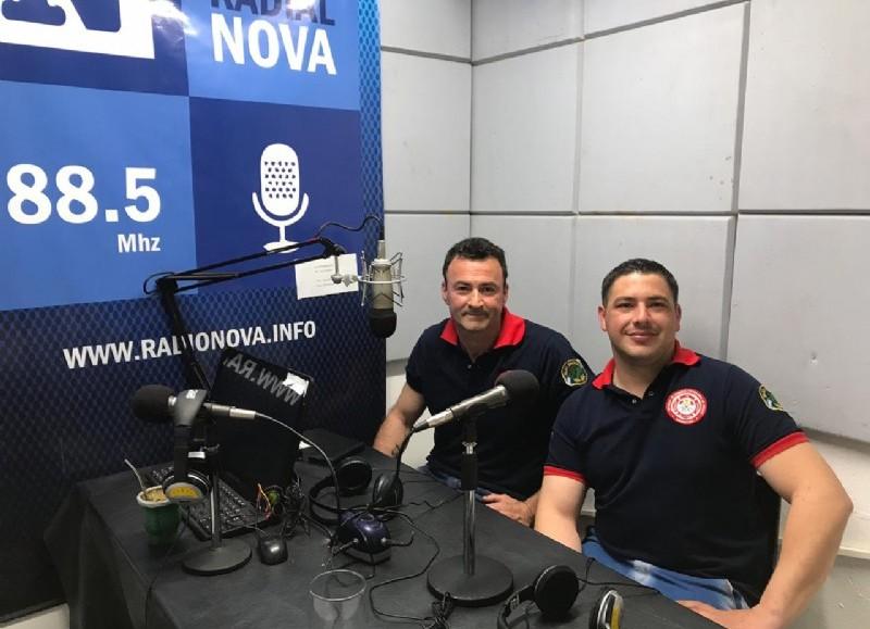 Hugo Baudry y Cristian Heller en el aire de BerissoCiudad en Radio.