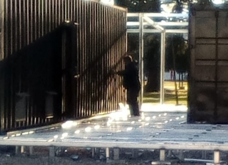 Intervención en el Parque Cívico (imagen de archivo).