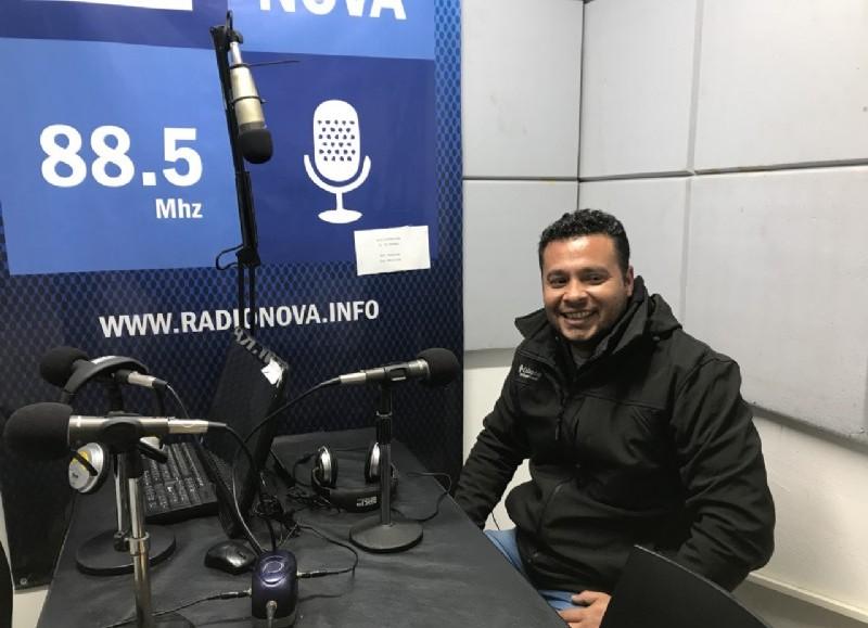 Sergio Rolón, en el aire de BerissoCiudad en Radio.
