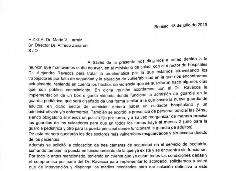 Fragmento del acuerdo rubricado.