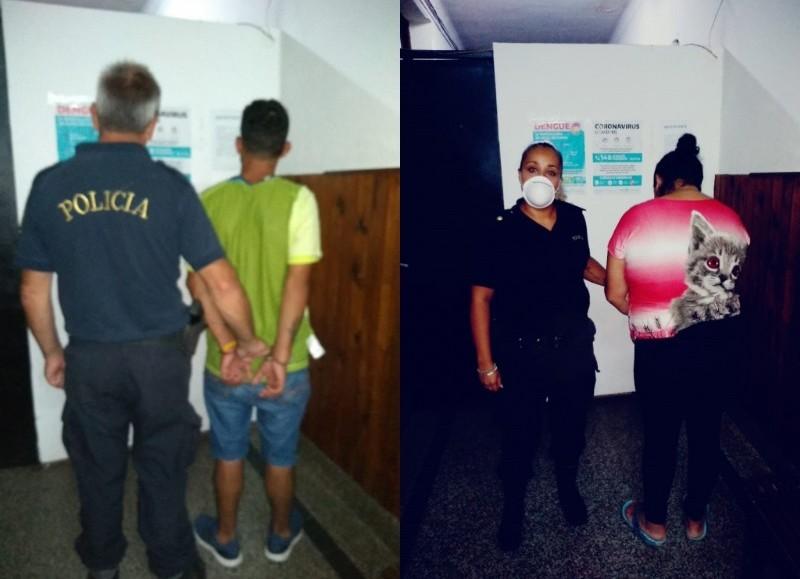 Por resistencia a la autoridad, en la noche del domingo, dos personas fueron detenidas.