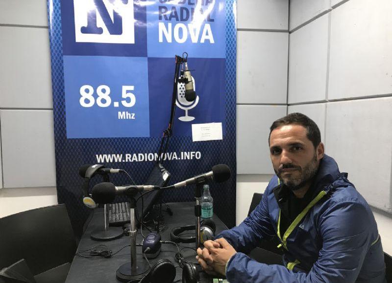 Juan Ignacio Mincarelli, en el aire de BerissoCiudad en Radio.