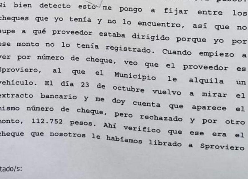 Desde el área de Economía de la Municipalidad de Berisso se formalizó este jueves una denuncia penal, luego de constatar la falsificación de cheques bancarios por montos superiores a los 100 mil pesos.