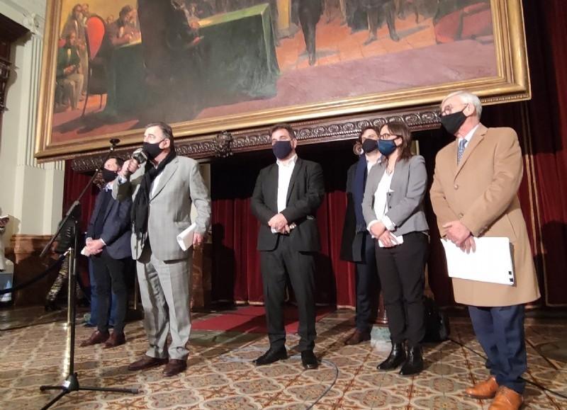 Conferencia de prensa de la bancada macrista.