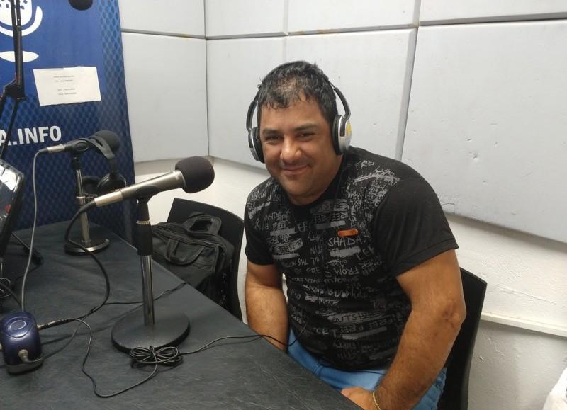 Jesús Helguera, en el aire de BerissoCiudad en Radio.