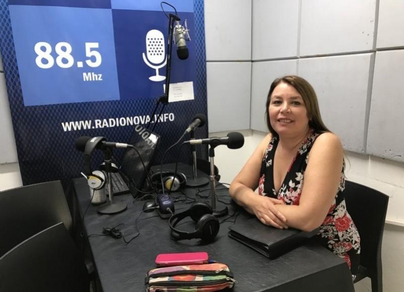 """Claudia Vivas, referente de la ONG """"Decir Basta""""."""