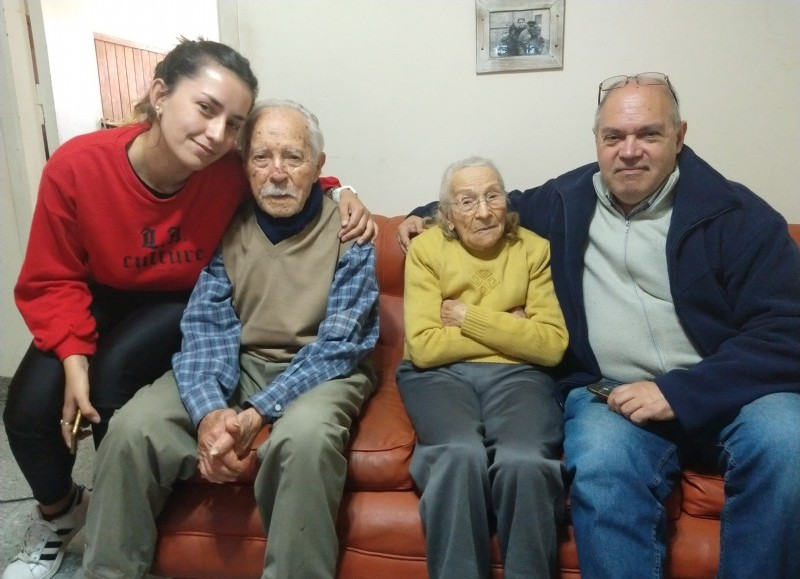 Berissense centenario, rodeado de afectos.