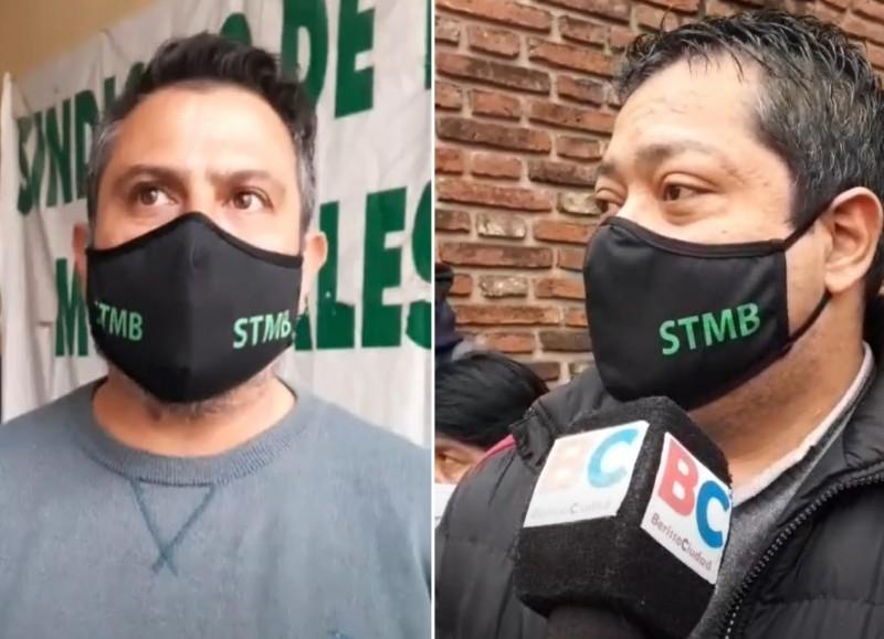 Darío Batista y Jorge Rodríguez, secretarios adjuntos y general del STMB.
