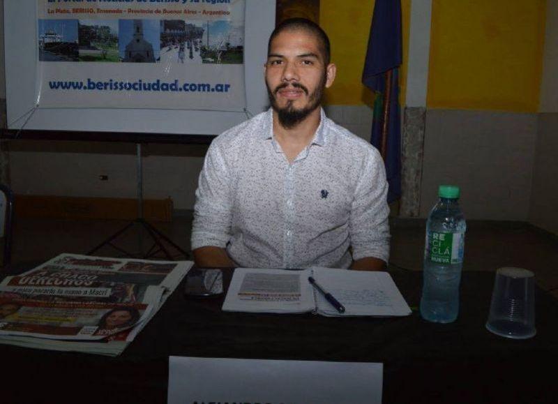 Alejandro Sepúlveda, precandidato a intendente por el Nuevo MAS.