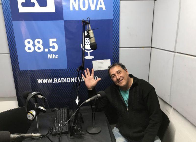 Marcelo Chediak en el aire de BerissoCiudad en Radio.