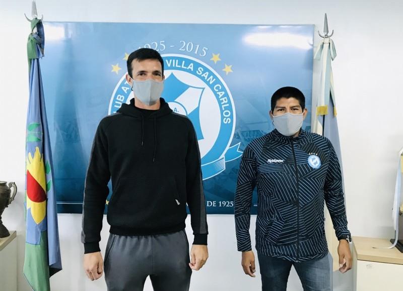 Federico Slezack y Alan Molina, referente y encargado de Prensa del club, respectivamente.