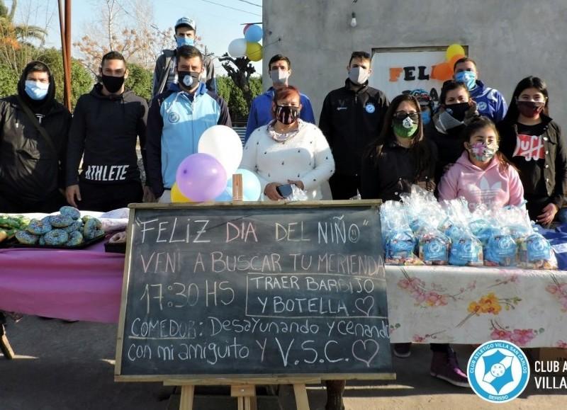 Un festejo muy particular (fotos: Prensa del club).