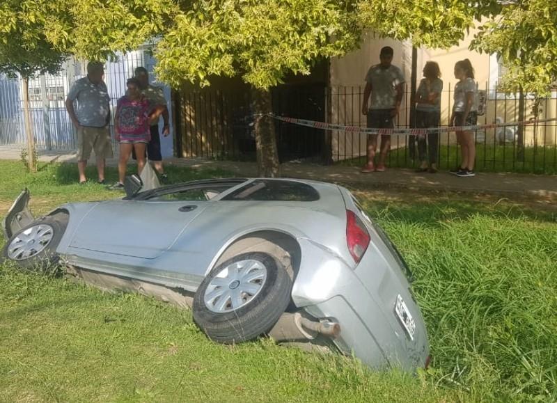 Así quedó el vehículo.