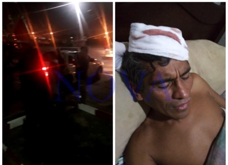 Un vecino intentó hablar con los sujetos, pero le dieron una paliza y lo golpearon en la cabeza. (Foto: NOVA)