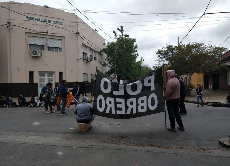Manifestación en la jornada de este viernes.