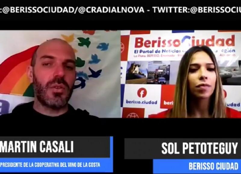 Martín Casali, en diálogo con BerissoCiudad.