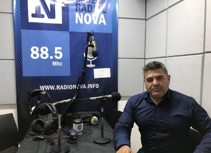 José Luis Redondo en el aire de BerissoCiudad en Radio.