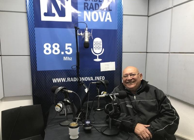 Luis Basualdo, en el aire de BerissoCiudad en Radio.