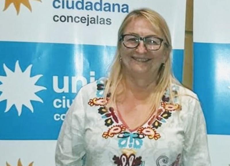 Nora Harmatiuk, titular del bloque del Frente de Todos en el Concejo Deliberante.