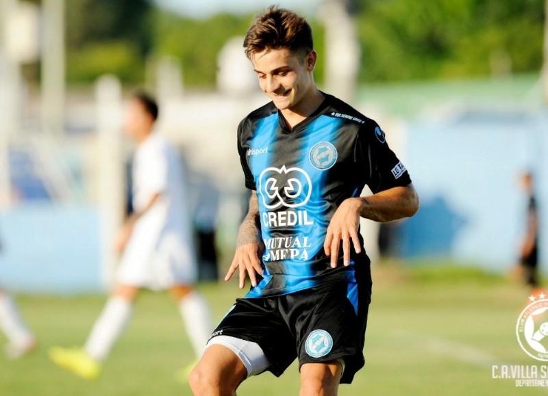 Lugones celebra su gol (foto: Prensa VSC).