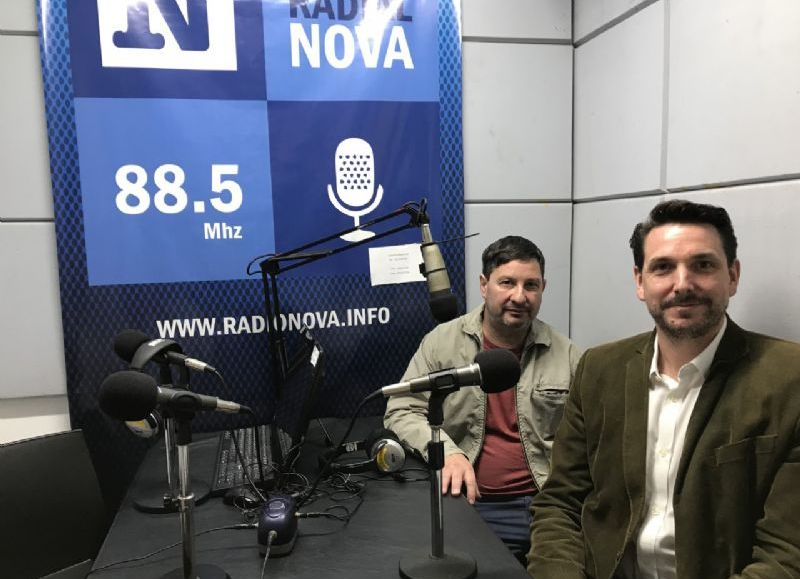 Los médicos Horacio Amato y Santiago Ramírez Borga, en el aire de BerissoCiudad en Radio.