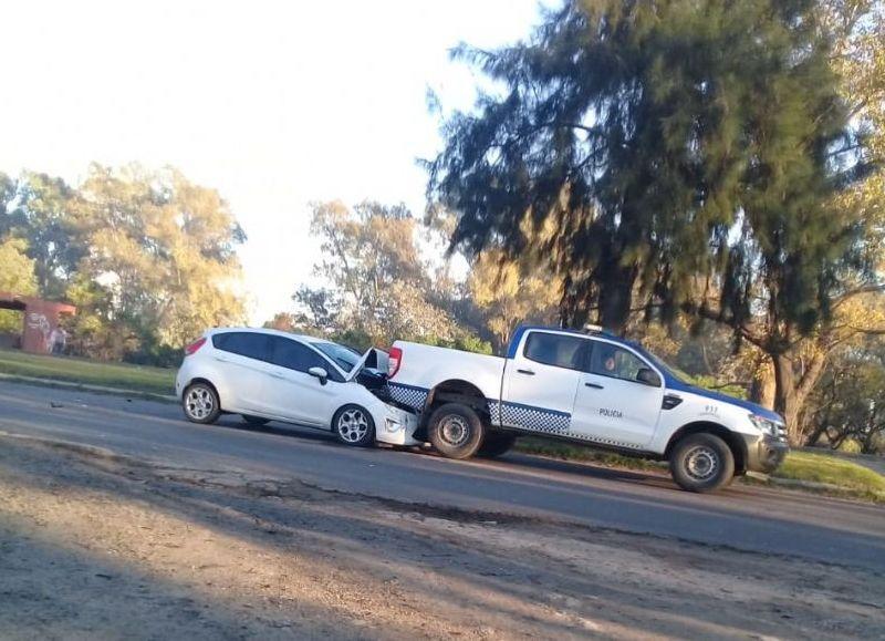 En la mañana de este sábado, un lector de BerissoCiudad envió a nuestra redacción imágenes de un accidente de tránsito ocurrido sobre la Avenida 60, a la altura de 144.