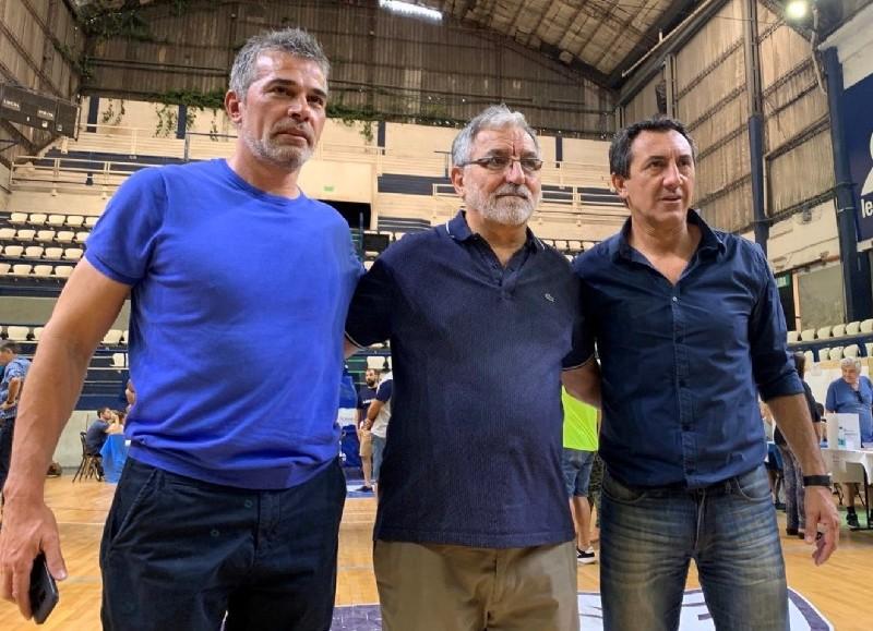 Los tres candidatos: Pellegrino, Cowen y Robustelli (foto: @gimnasiaoficial).