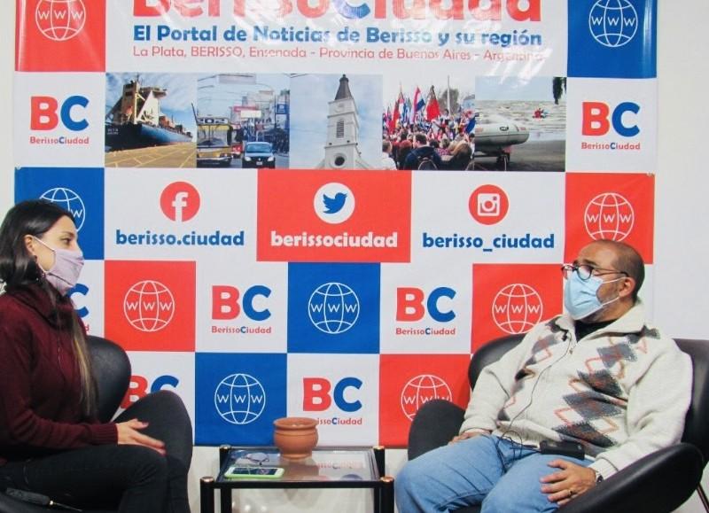 """El director de Seguridad Vial y Ciudadana pasó por BerissoCiudad en Radio """"El Backup""""."""