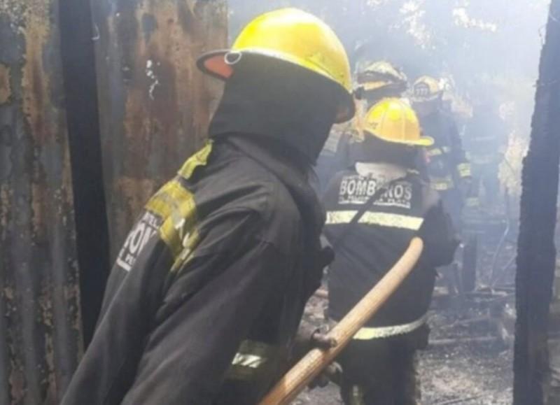 Debieron intervenir los bomberos.