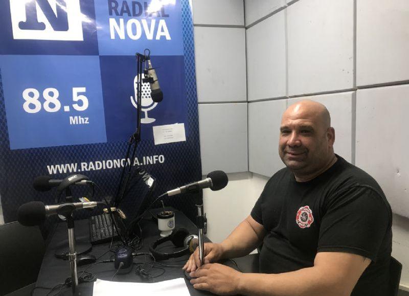 Roberto Scafati, candidato a presidente de la Sociedad de Bomberos Voluntarios.