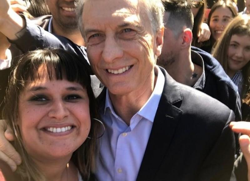 La concejal Cincotta junto al Presidente.