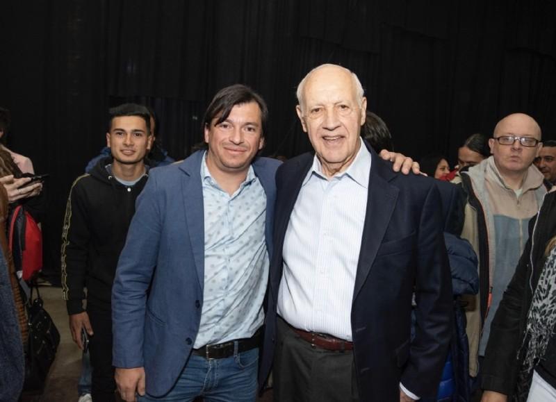 Emmanuel Guerrero y Roberto Lavagna.