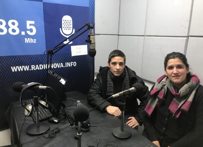 Emir Hasain junto a la coordinadora del área de Violencia de Género y DD HH, Daniela Goga.