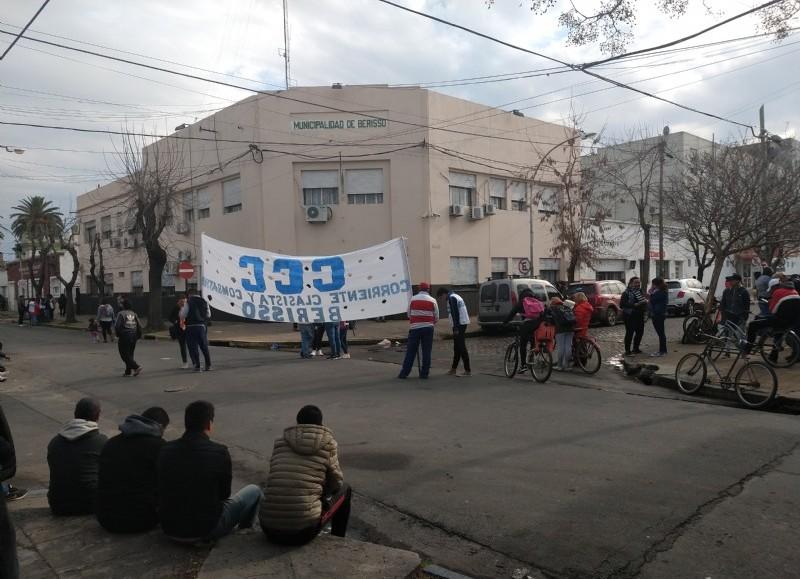 Manifestación en la jornada de este miércoles.
