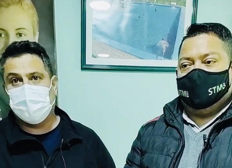 Darío Bautista y Jorge Rodríguez, referentes del gremio municipal.
