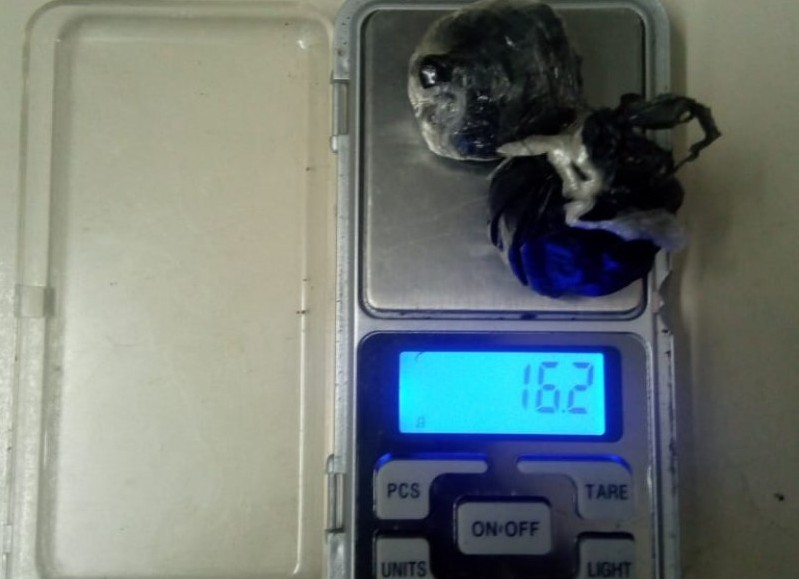 Un total de 16,2 gramos de cocaína.