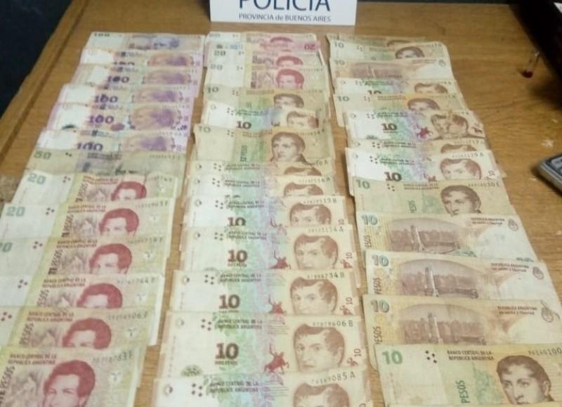 Dinero secuestrado.