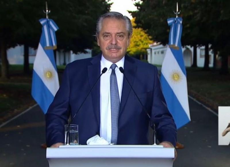 Imagen de Alberto Fernández en TV