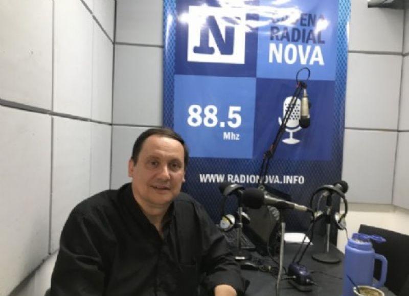 Gabriel Miraz, en el aire de BerissoCiudad en Radio.