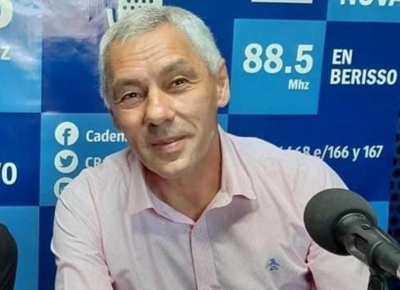 El intendente de Berisso, Fabián Cagliardi.
