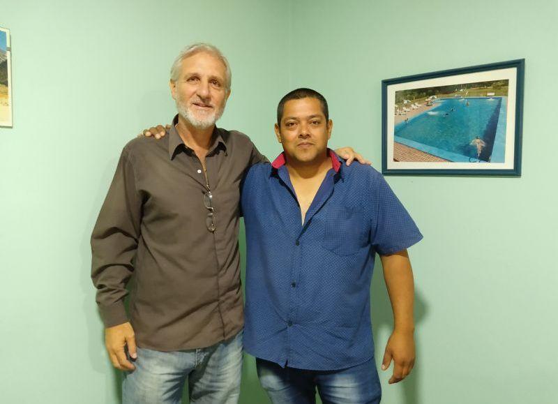 Marcelo Peroni y Jorge Rodríguez, candidatos a secretario adjunto y general, respectivamente.